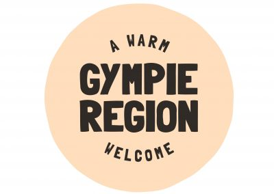 Gympie Region Brand Story - logo tag device cream